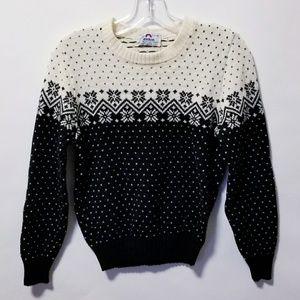 Vintage 80's retro print sweater top